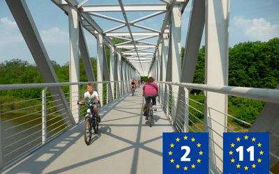 Updated itineraries for EuroVelo 2 and EuroVelo 11 in Poland