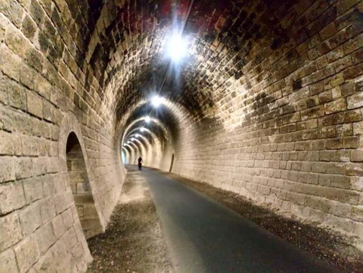 Cycling in a brick tunnel
